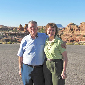 Mary and Morris at Canyonlands National Park.