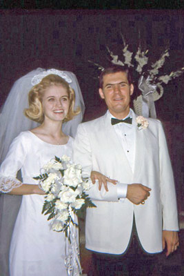 An image of Morris Webb, Jr. and his bride, Mary Hunt Webb.