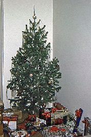 A photographic image our Christmas tree when we lived in Topeka, Kansas.