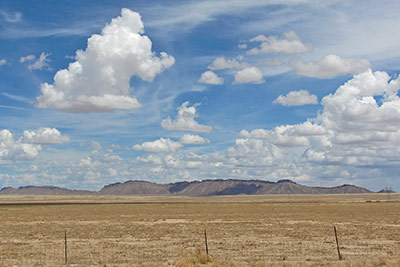 A photographic image of a desert in northwest New Mexico.