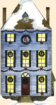 An image of a festive house.